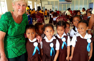 VSA volunteer Joanna with Live & Learn Tonga