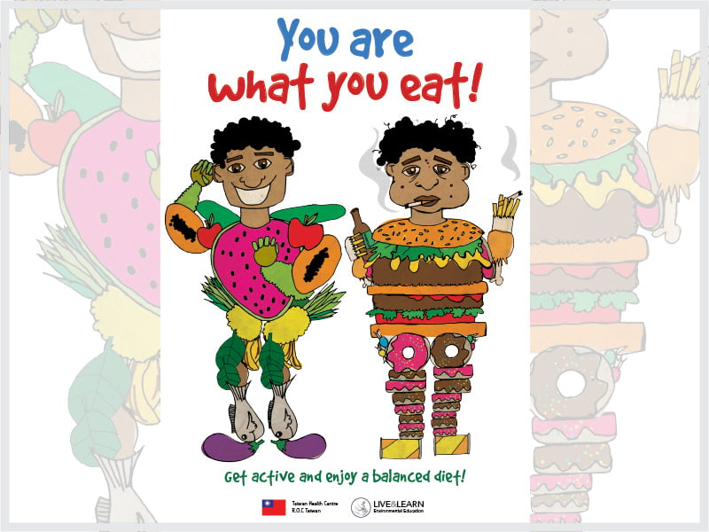 Cover page for the document 'You Are What You Eat! Poster'