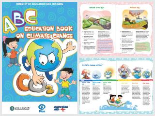 Cover page for the document 'ABC Education Book on Climate Change'