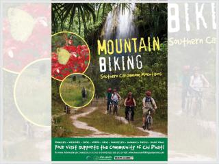 Cover page for the document 'Mountain Biking in Cambodia Poster'