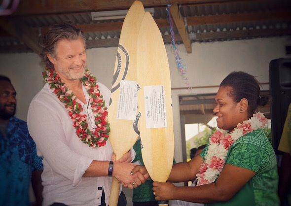 President of P&O Cruises and Live & Learn Vanuatu representative at the launch