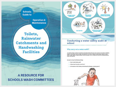Cover of school WASH operation and maintenance guide