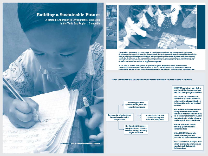 Cover page for the document 'Building a Sustainable Future: a Strategic Approach to Environmental Education'