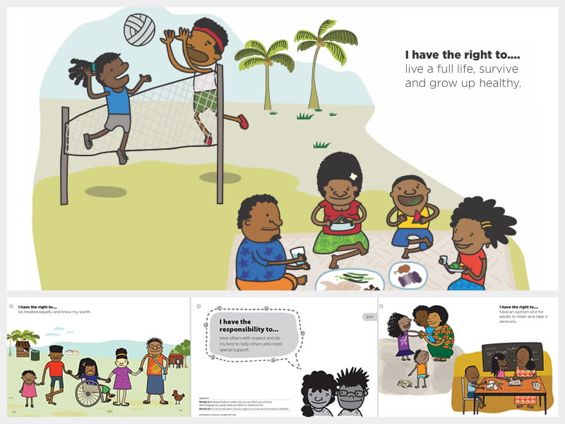 Building Peace: Child's rights cards