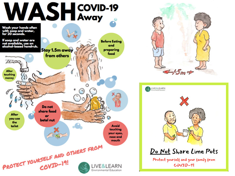 Examples of COVID 19 hygiene promotion resources