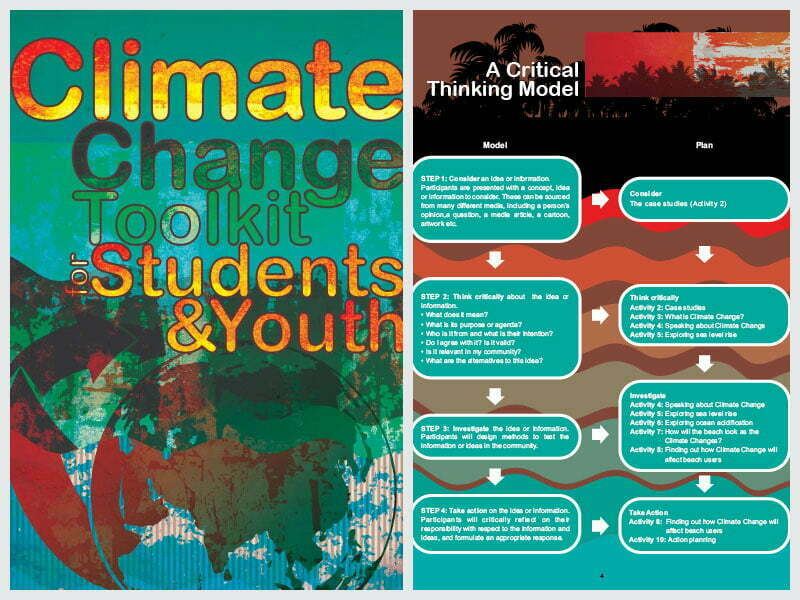 Cover page for the document 'Climate Change Toolkit for Students and Youth'