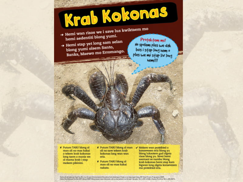 Cover page for the document 'Krab kokonas'