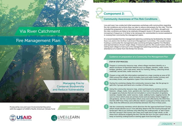 Cover Page for the document 'Via River Catchment Fire Management Plan'