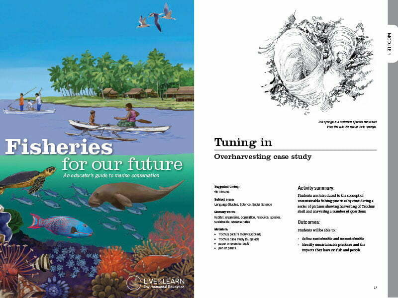 Cover page for the document 'Fisheries for our Future'