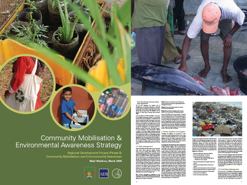 Cover page for the document 'Community Mobilisation & Environmental Awareness Strategy'