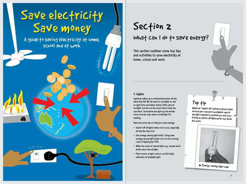 Cover Page For The Doent Save Electricity Money Handbook