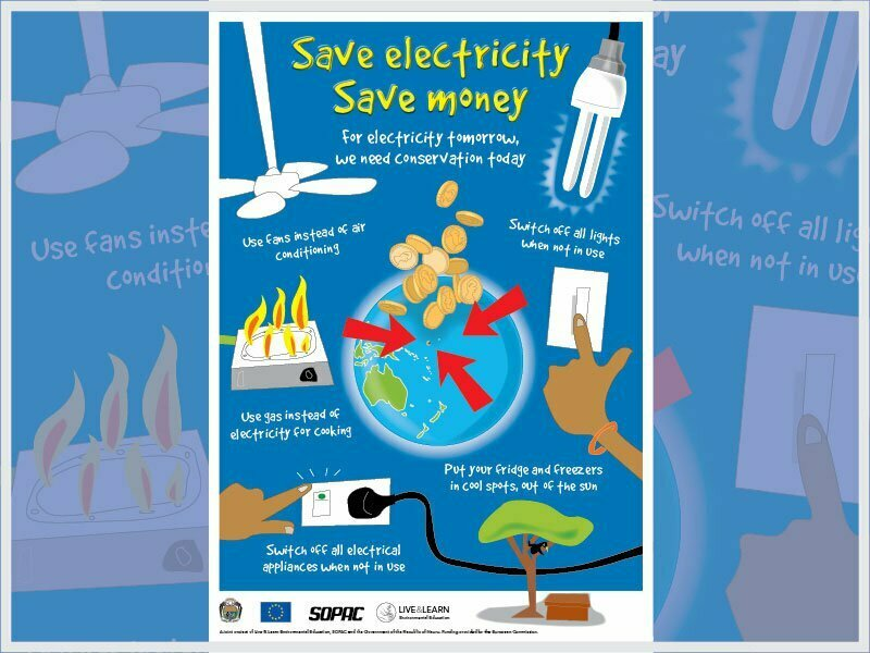 Save Electricity, Save Money Poster | Live & Learn