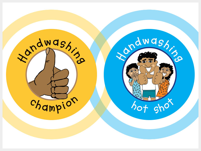 WASH Handwashing Stickers