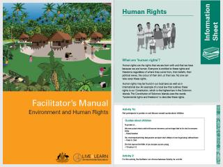 Cover page for the document 'Environmental and Human Rights - Facilitator's Manual'