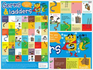 Germs & Ladders Game