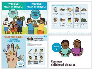 Cover and sample pages of Kiribati WASH in Schools Toolkit